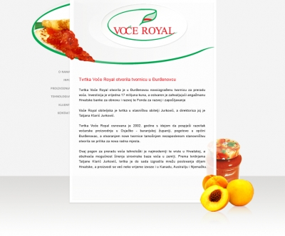 Web stranica - Voće Royal