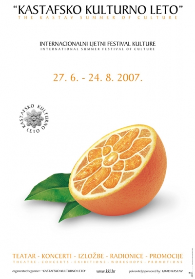 Plakat za Kastafsko kulturno leto 2007.