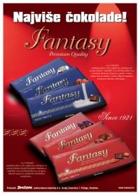 Letak za Fantasy mliječne čokolade, prednja strana