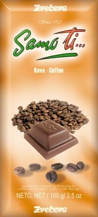 Oblikovna linija Samo ti - punjena mliječna čokolada, kava, 100g