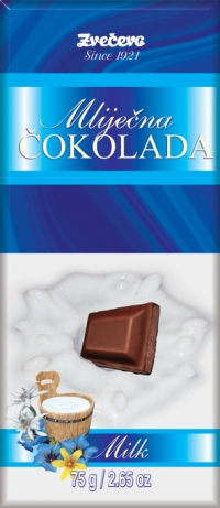 Generičke čokolade - mliječna čokolada, 75g