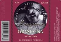 Etiketa za vino Graševina - Hemingway