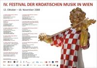 Plakat - Festival hrvatske glazbe u Beču