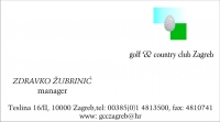 Posjetnica - Golf & Country Club