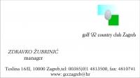 Posjetnica - Golf & Country Club