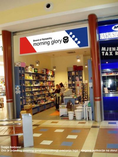 Grafika za izlog - Morning Glory