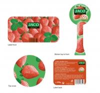 Etiketa - Jaco gold erdbeer