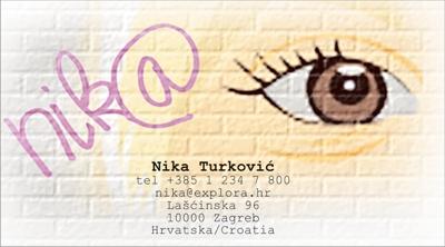 Posjetnica - Nika Turković