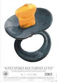 Plakat za Kastafsko kulturno leto 2003.