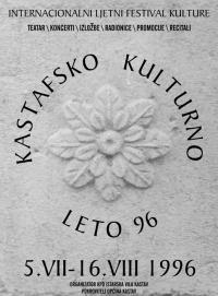 Plakat za Kastafsko kulturno leto 1996.