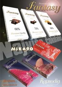 Oglas - Tamna čokolada Rapsodia i Mikado