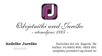 Posjetnica - Odvjetnički ured Jureško
