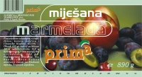 Etiketa, miješana marmelada - Prima