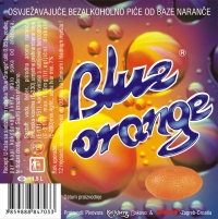 Etiketa - Blue Orange, bezalkoholno piće od naranče