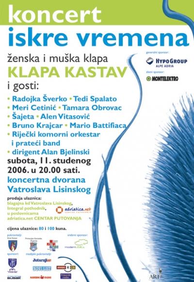 Plakat - Klapa Kastav u Lisinskom