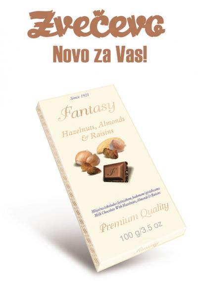Prijedlog za Fantasy mliječnu čokoladu s bademom i lješnjakom