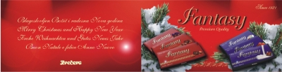 Fantasy čestitka za Božić i Novu godinu - vanjska strana, rasklopljeno