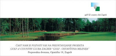 Pozivnica - Golf & Country Club