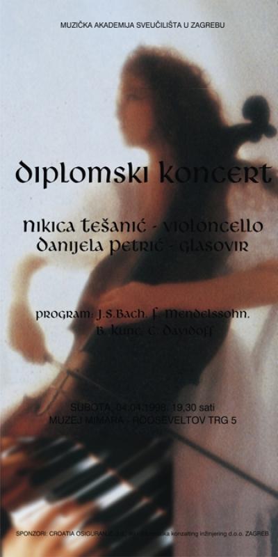 Plakat - za diplomski koncert