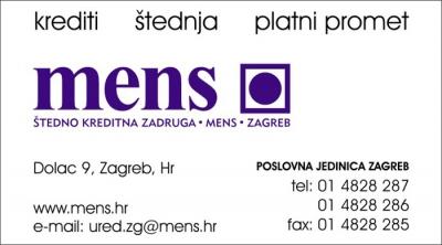 Posjetnica - Mens